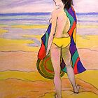 Beach girl # 2  by Virginia McGowan