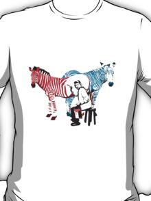 REMBRANDT ZEBRA PAINTING print T-Shirt