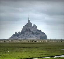 Mont St.Michel ( 2 ) The Flats by Larry Lingard/Davis