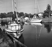 REFLECTIONS IN MONOCHROME..1 by ronsaunders47