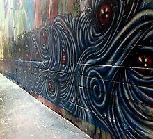 A Wall of Eyes by john  Lenagan