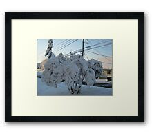 Feb. 19 2012 Snowstorm 113 Framed Print
