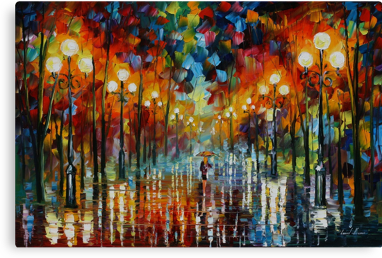 A DATE WITH THE RAIN - LEONID AFREMOV by Leonid  Afremov