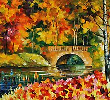 FALL BRIDGE - LEONID AFREMOV by Leonid  Afremov