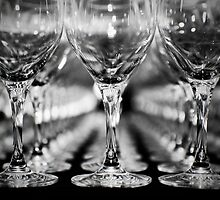 Rows of Glasses by Mark Lee
