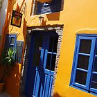 Crazy, Colourful Streets-Santorini Greece by Francis Drake