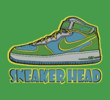 SNEAKER HEAD: GREEN|BLUE|YELLOW AIR FORCE ONE MIDS Kids Clothes