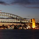 Sydney Harbour Bridge and Opera House SUNSET by Andrew  MCKENZIE