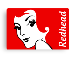 Miss Redhead (text) [iPhone / iPad / iPod case | Tshirt | Print] Canvas Print
