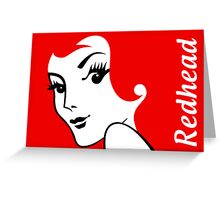 Miss Redhead (text) [iPhone / iPad / iPod case | Tshirt | Print] Greeting Card