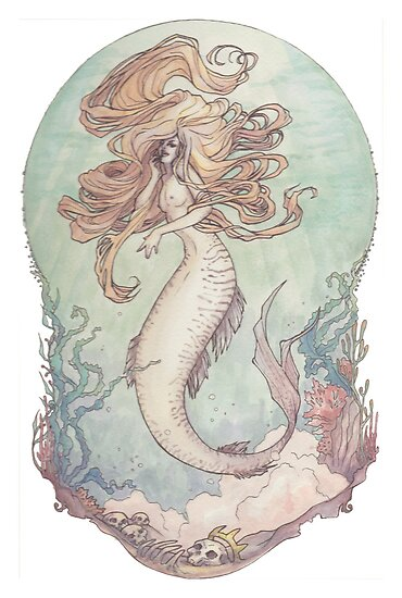 Art Nouveau Siren by LilyM