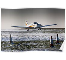 PA28 take-off run in snow Poster