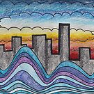 Clouds, Water, City. by Laura Godden