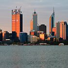 Perth, Western Australia at dusk by Nigel Donald