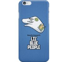 Lil' Blue People iPhone Case/Skin
