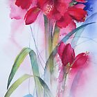 Red Amaryllis by artbyrachel