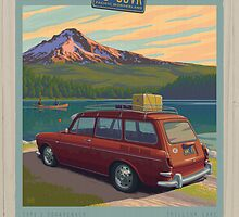 Vintage Squareback at Trillium Lake by mitchfrey