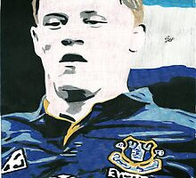 Ross Barkley Everton Comic Book Style Image by chrisjh2210