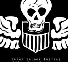 Burma Bridge Busters - 490th BS - 341st BG - 10th & 14th AF Emblem  Sticker