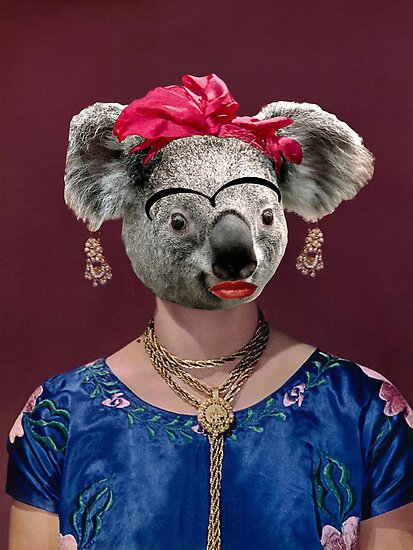 Frida Koala by LetThemEatArt