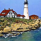Portland Maine Light House by Randy Sprout