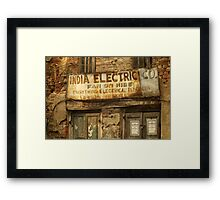 India Electric Co. Framed Print