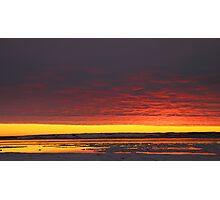 Sunset Gold at Churchill, Canada Photographic Print