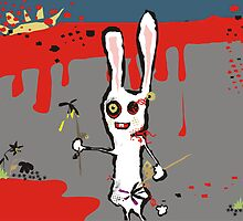 zombie bunny rabbit deal flowers may calendar by BigMRanch