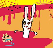zombie bunny rabbit scuba brains august calendar by BigMRanch