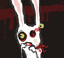 zombie bunny rabbit scared october calendar by BigMRanch