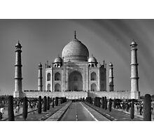 Taj Mahal With a Rainbow in B&W Photographic Print