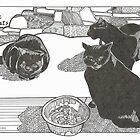 Three Black Cats by Sally O'Dell