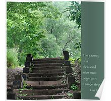Steps with Lao Tzu Quote Poster