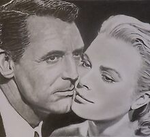 Cary Grant & Grace Kelly by Mike O'Connell