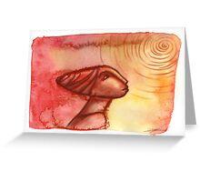 Staring at the sun Greeting Card