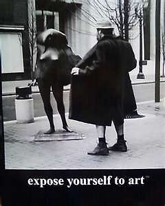 for christ's sake, expose yourself to art by Sacred Cowboy (John Lemon)