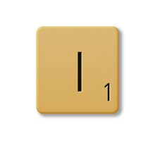 Scrabble Tile - I by axemangraphics
