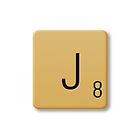 Scrabble Tile - J by axemangraphics