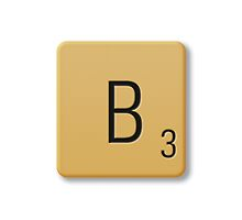 Scrabble Tile - B by axemangraphics