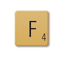 Scrabble Tile - F by axemangraphics
