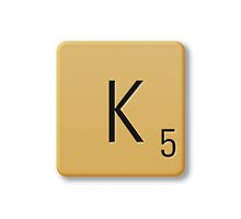 Scrabble Tile - K by axemangraphics