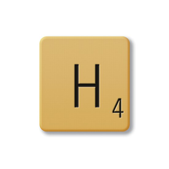 Scrabble Tile - H by axemangraphics