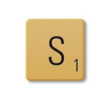 Scrabble Tile - S by axemangraphics