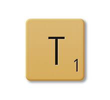 Scrabble Tile - T by axemangraphics
