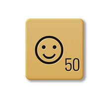 Scrabble Tile - Happy #1 by axemangraphics