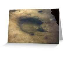 Footsteps Into Another Era Greeting Card