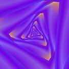 Triangular Tunnel in Purple and Orange by Objowl