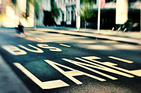 Bus Lane by Trish Woodford