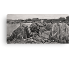 fishing nets - B&W Canvas Print