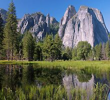 Cathedral Rocks Reflections - Yosemite by Stephen Vecchiotti